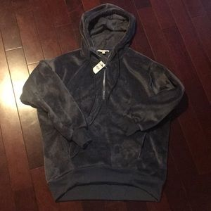 NWT Express One Eleven Velour Oversized hoodie